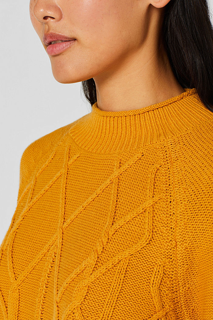 Cable knit jumper, HONEY YELLOW, detail image number 2