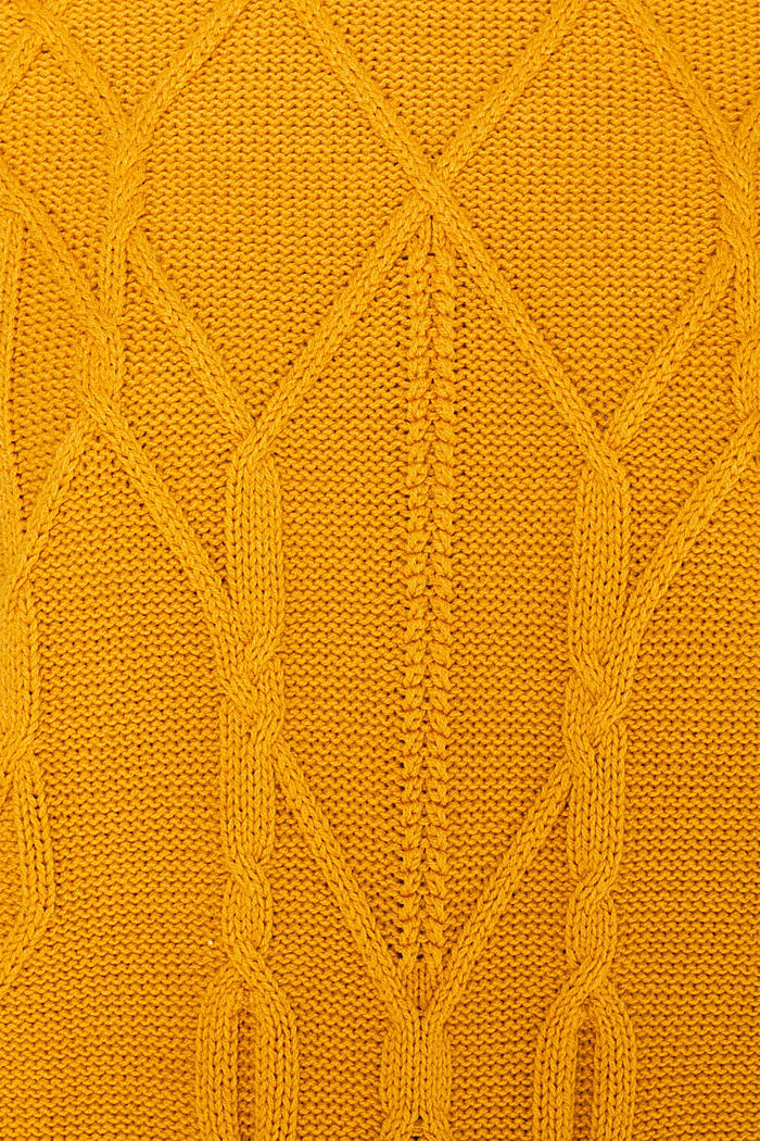 Cable knit jumper, HONEY YELLOW, detail image number 4