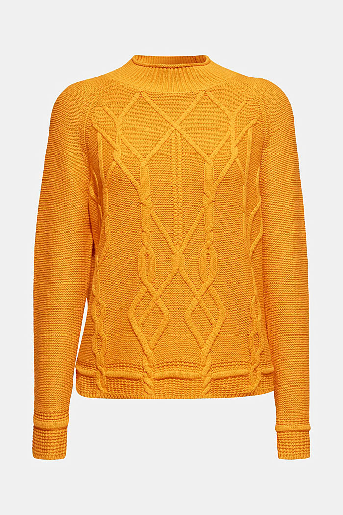 Cable knit jumper, HONEY YELLOW, detail image number 5