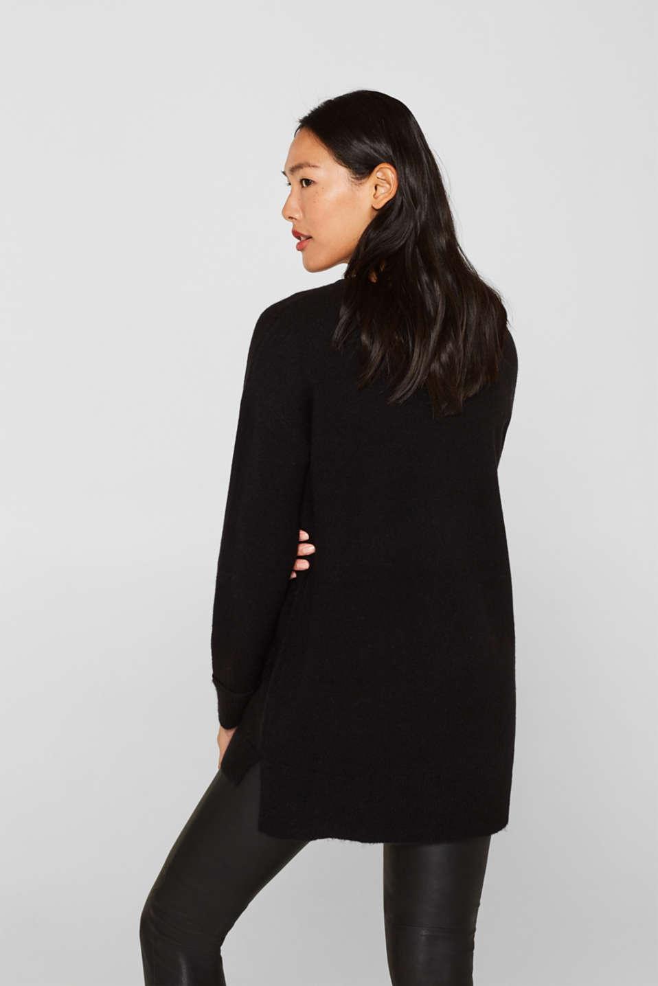 Sweaters, BLACK, detail image number 3
