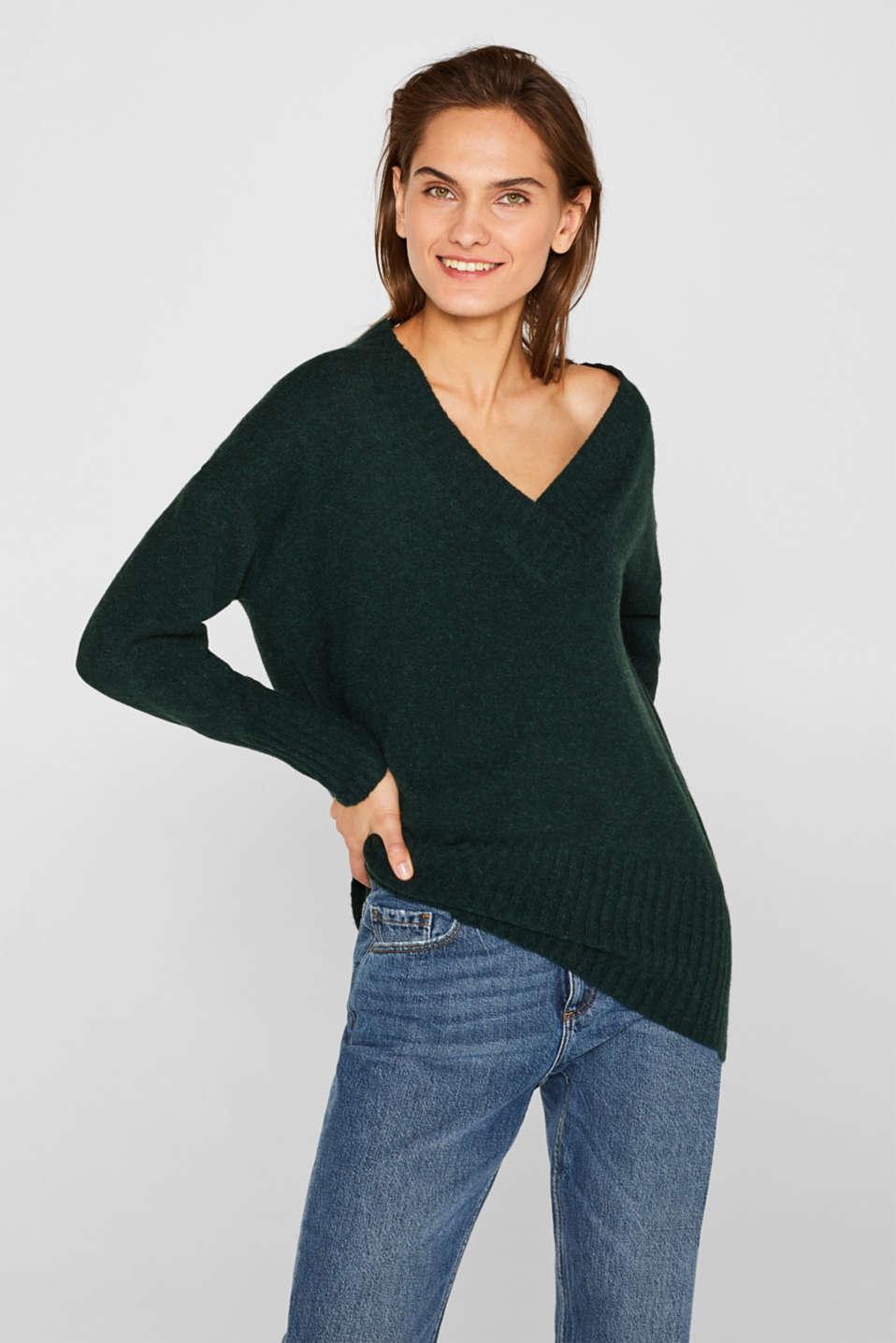 Sweaters, DARK TEAL GREEN 5, detail image number 0