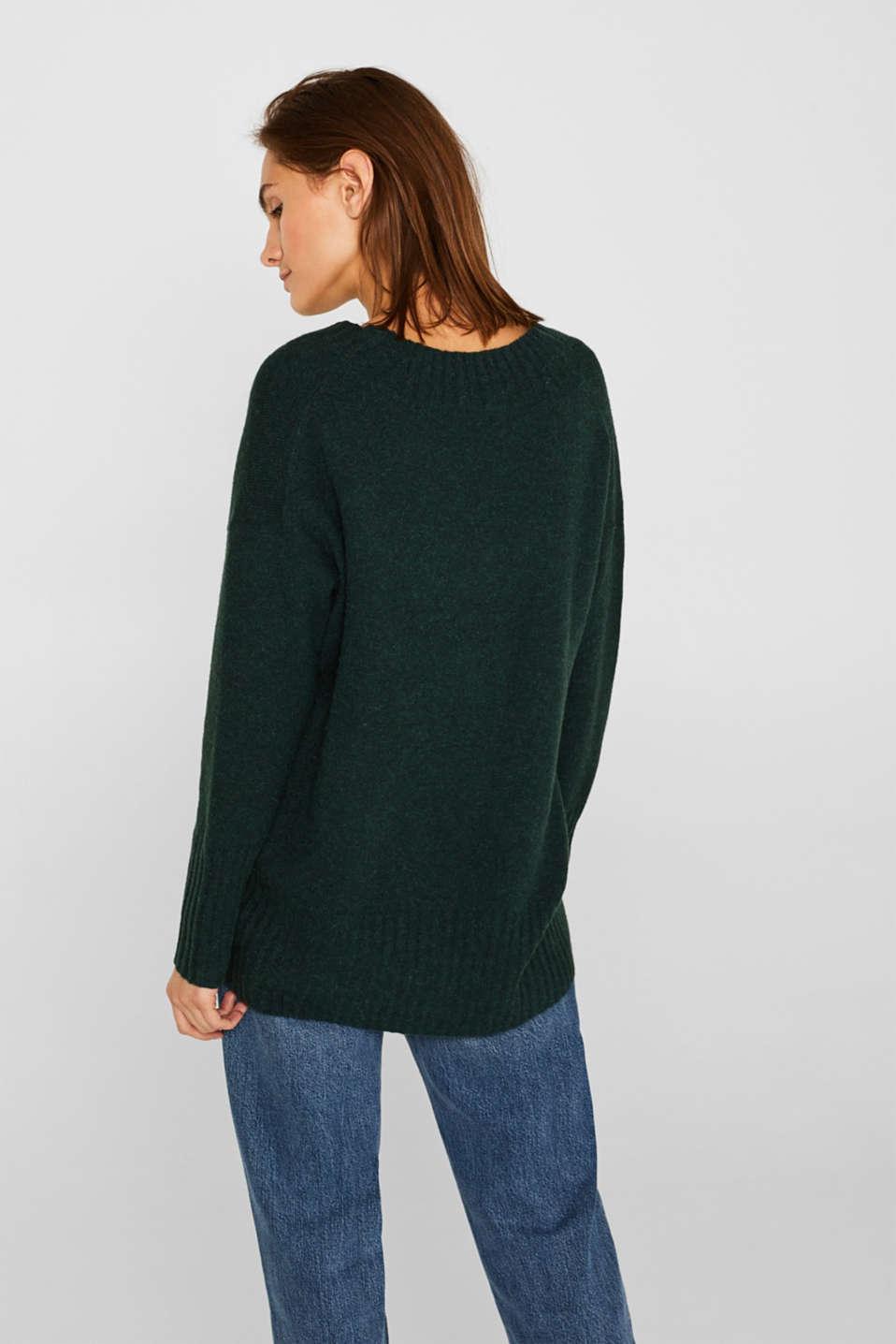 Sweaters, DARK TEAL GREEN 5, detail image number 3