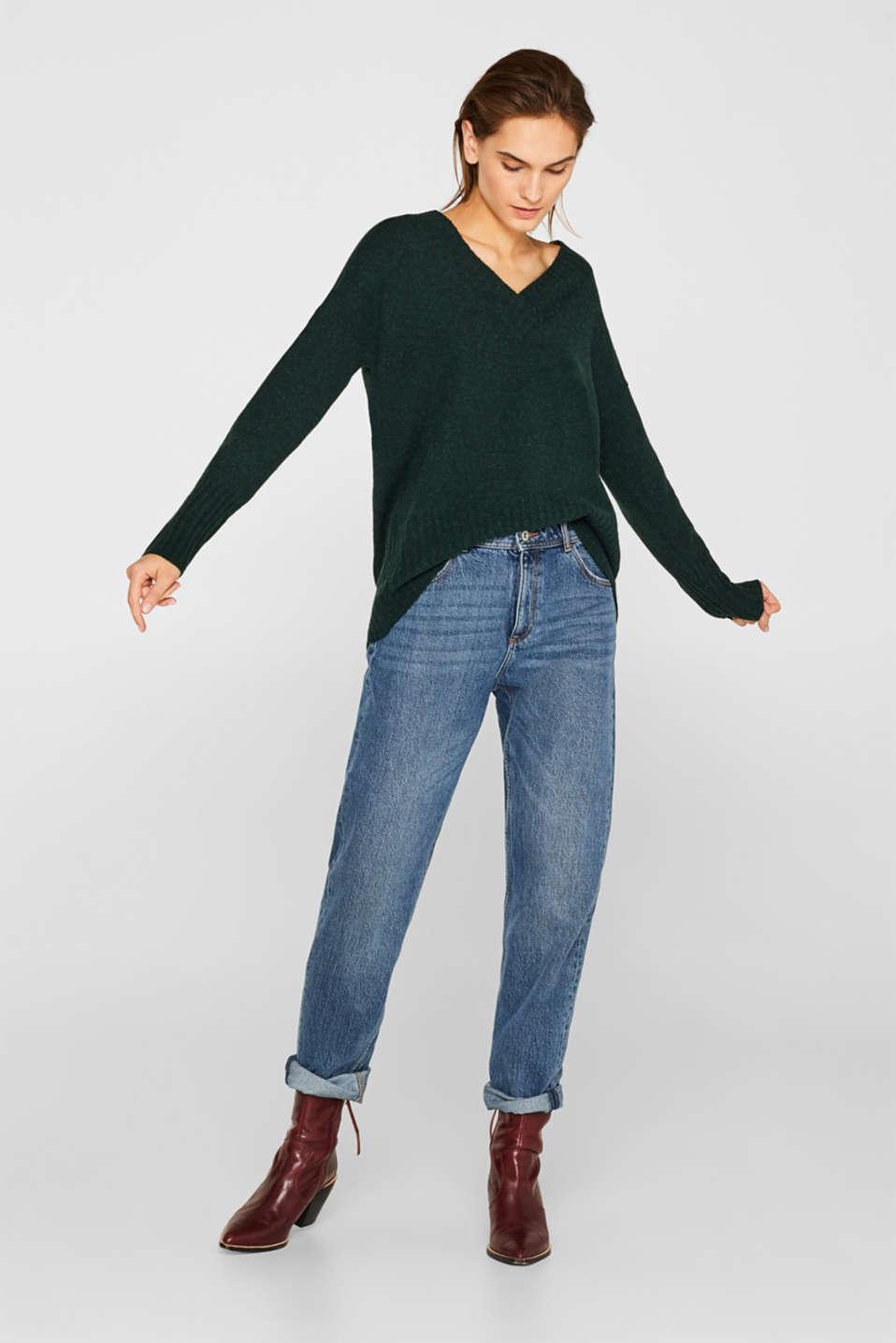 Sweaters, DARK TEAL GREEN 5, detail image number 1