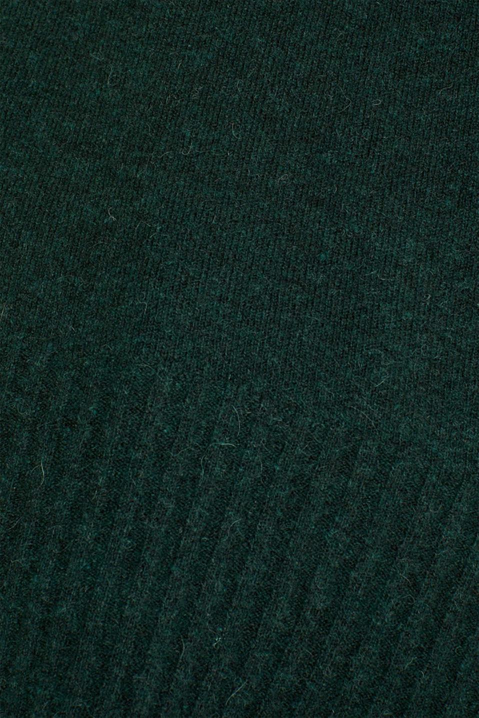 Sweaters, DARK TEAL GREEN 5, detail image number 4