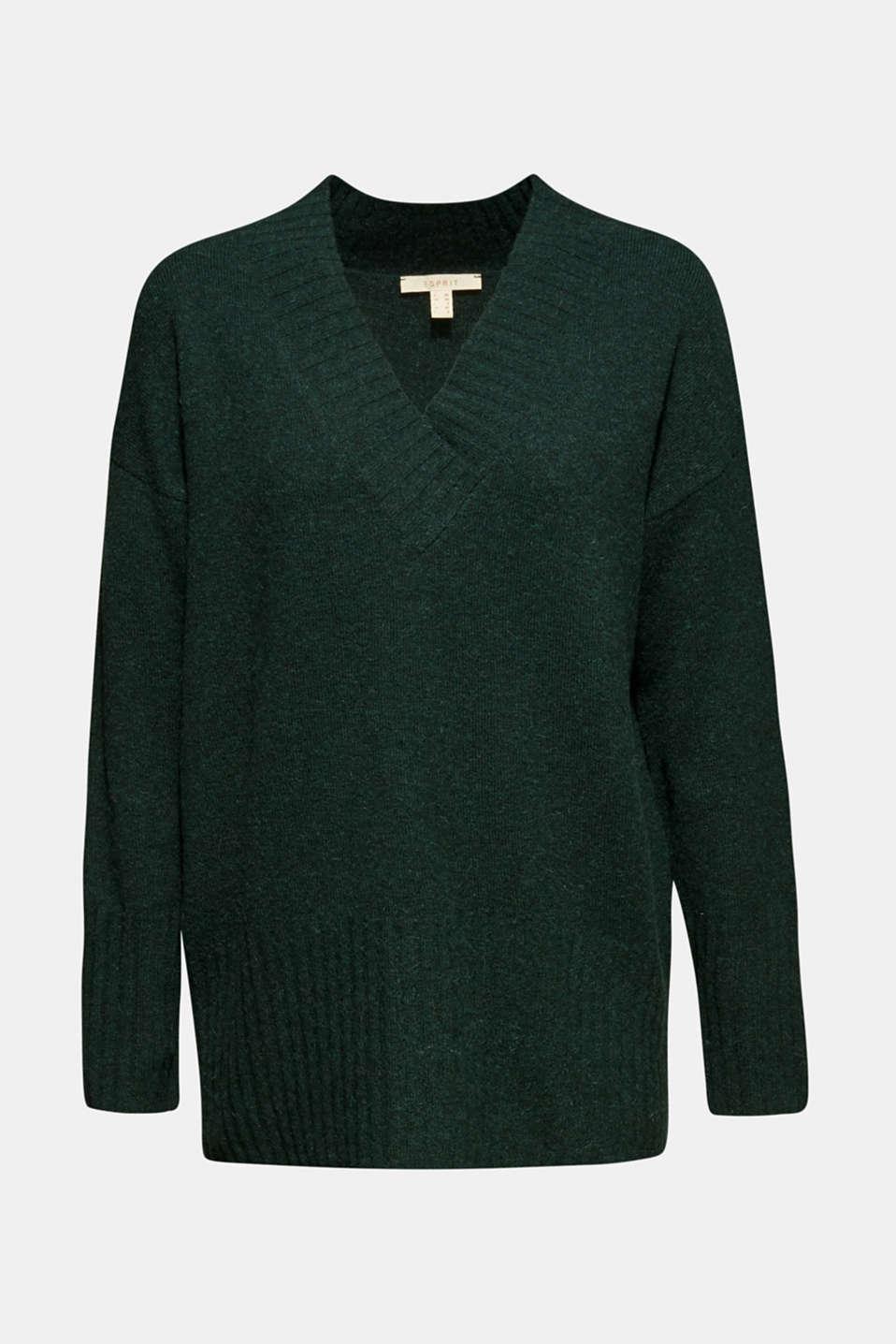 Sweaters, DARK TEAL GREEN 5, detail image number 5