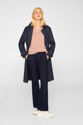 Wool/alpaca blend: V-neck jumper, MAUVE 5, detail