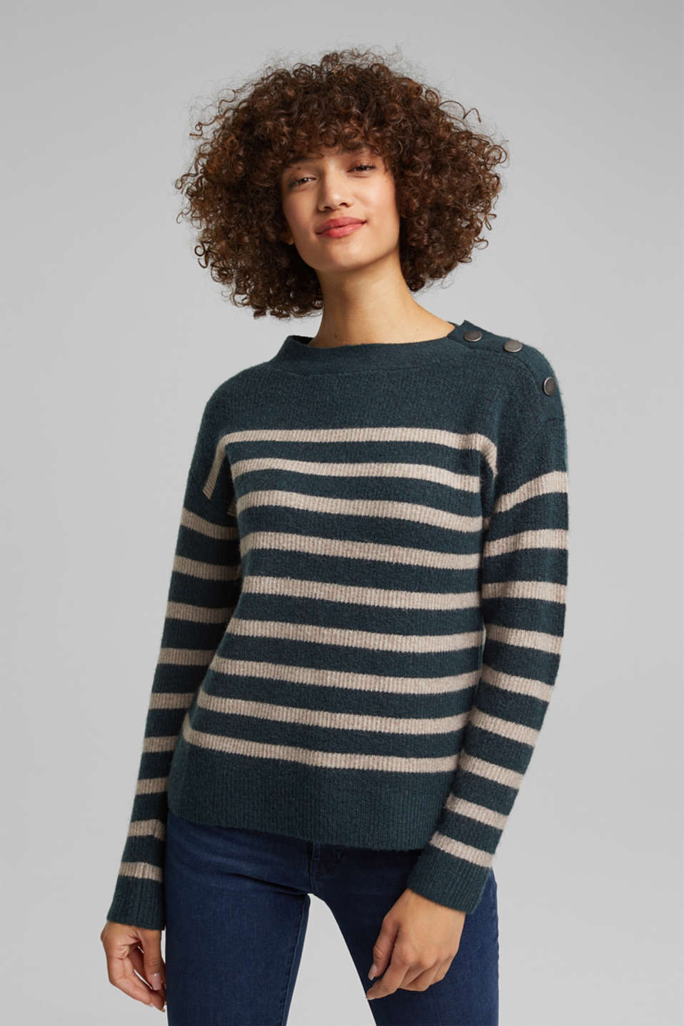 Esprit - With wool: striped jumper