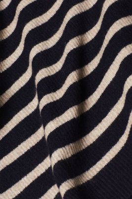 With wool: striped jumper, NAVY 2, detail