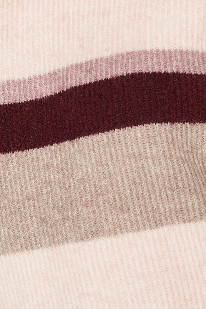 With wool: striped jumper, MAUVE, detail image number 4