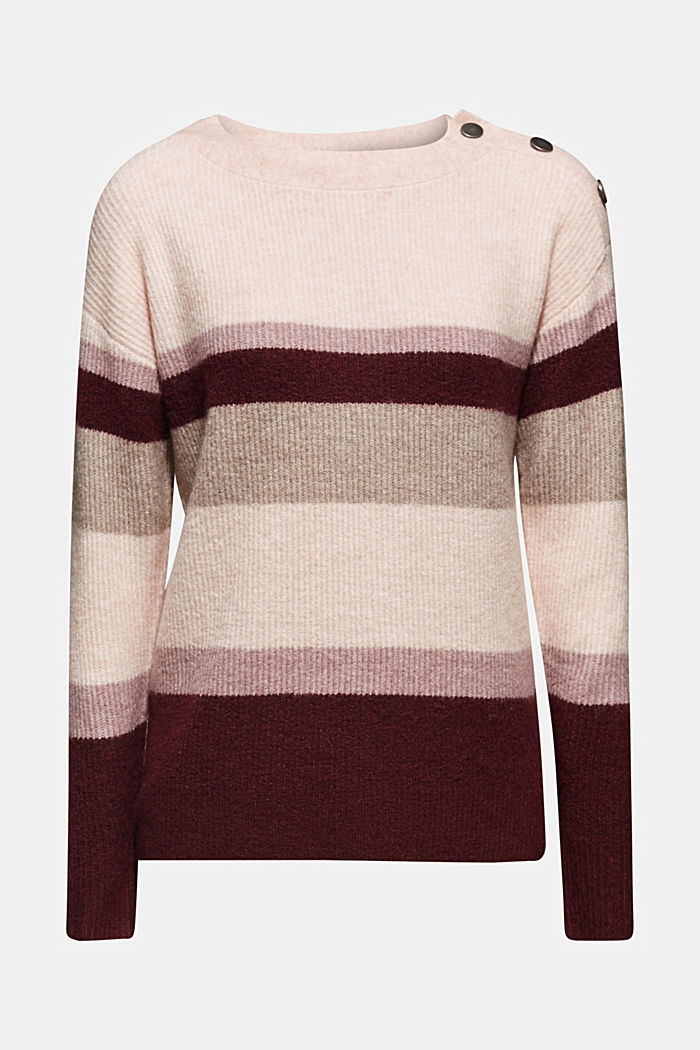 With wool: striped jumper, MAUVE, detail image number 7