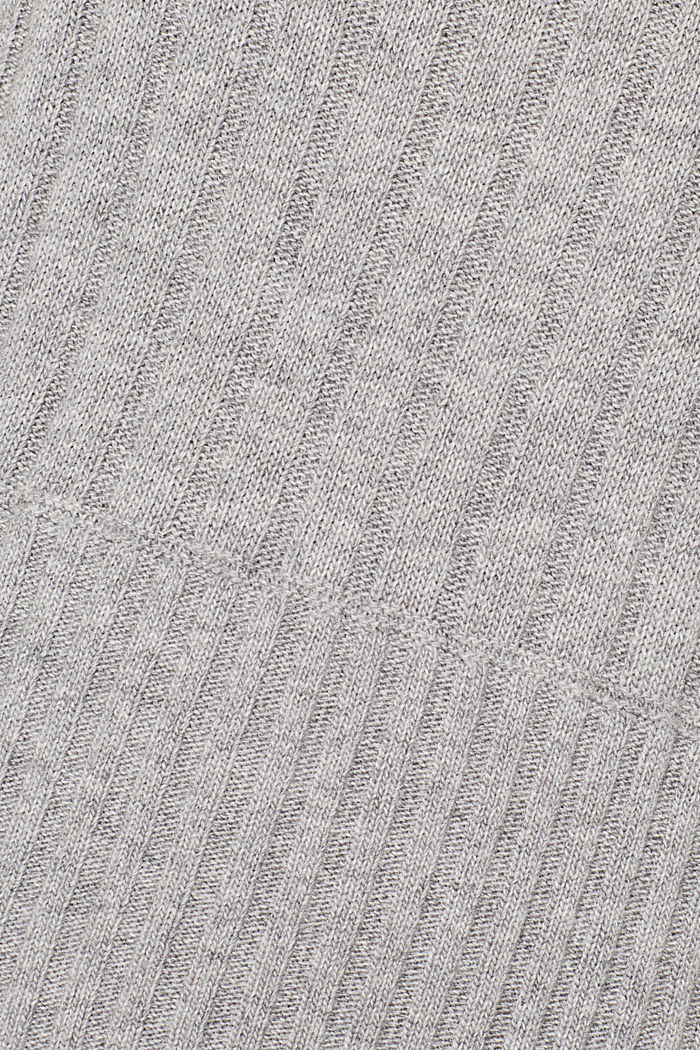 Ribbed jumper containing cashmere, MEDIUM GREY, detail image number 4