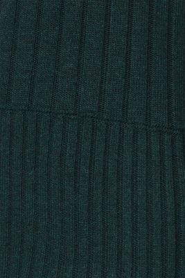 Ribbed jumper containing cashmere, DARK TEAL GREEN 5, detail