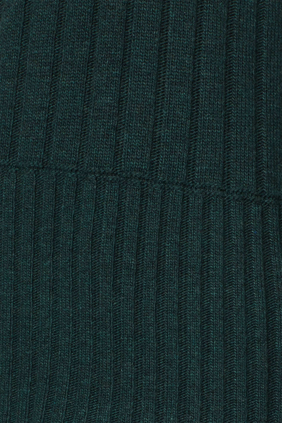 Ribbed jumper containing cashmere, DARK TEAL GREEN 5, detail image number 4