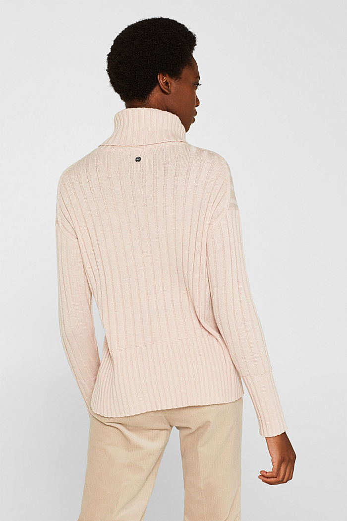 Ribbed jumper containing cashmere, PASTEL PINK, detail image number 3
