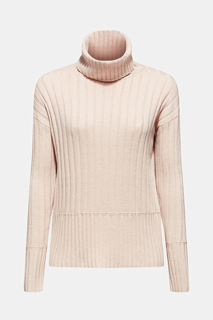 Ribbed jumper containing cashmere, PASTEL PINK, detail image number 5