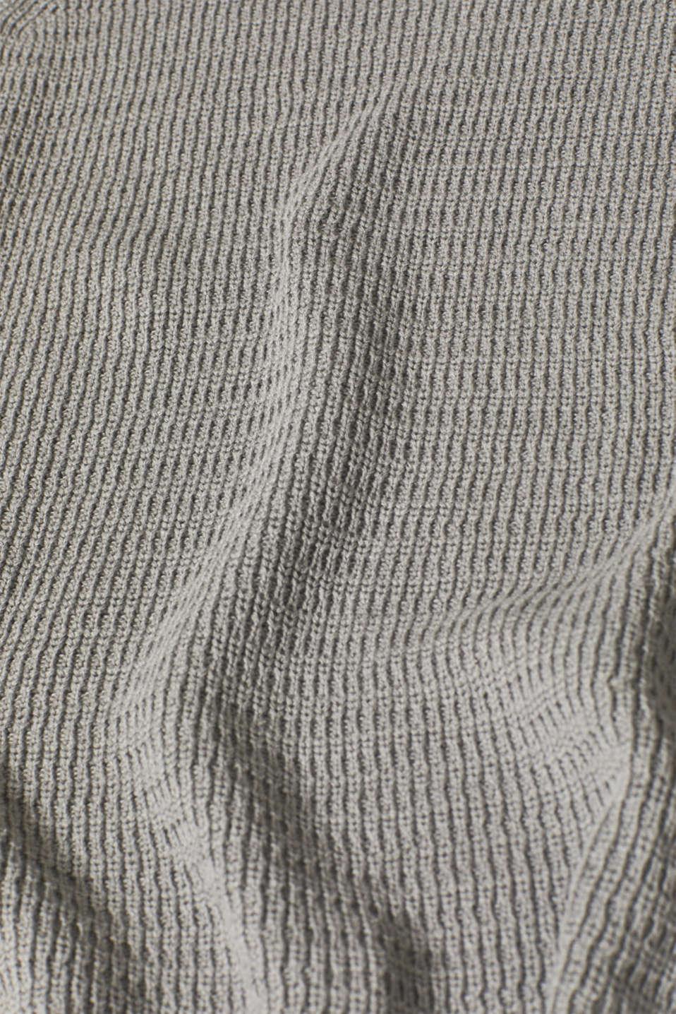 Textured polo neck jumper, MEDIUM GREY 5, detail image number 4