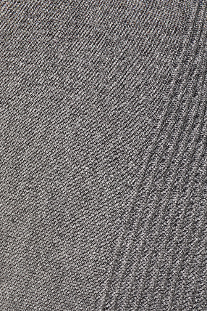 Open cardigan with a shawl collar, recycled, GUNMETAL, detail image number 4