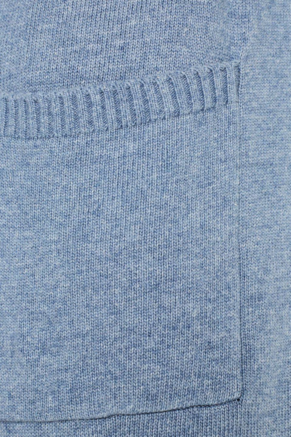 Wool blend: long cardigan with a belt, GREY BLUE 5, detail image number 4