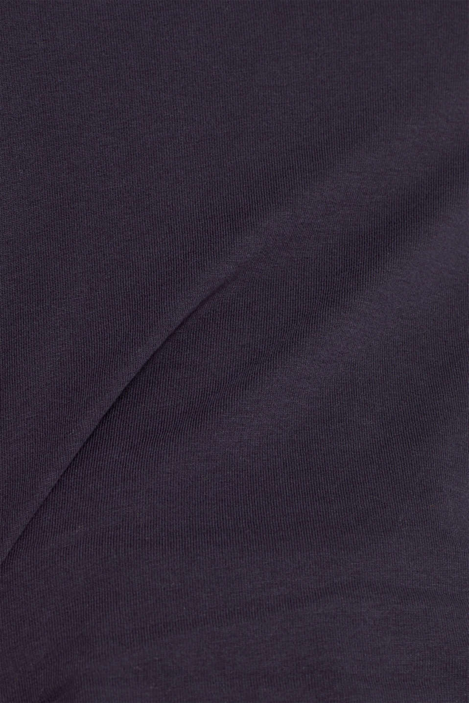 Long sleeve top in a basic design, 100% cotton, NAVY, detail image number 3