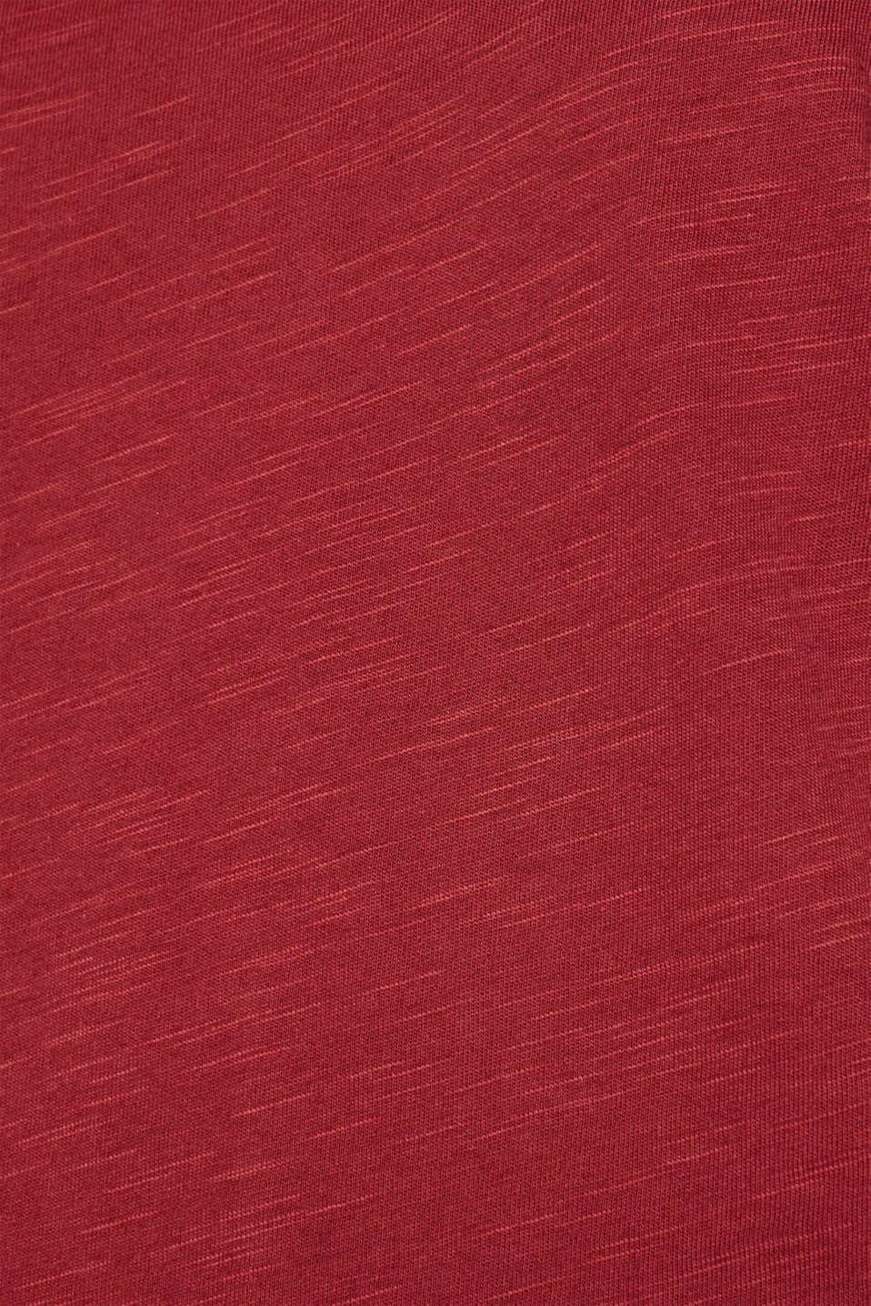 Slub top with a statement print, GARNET RED, detail image number 4