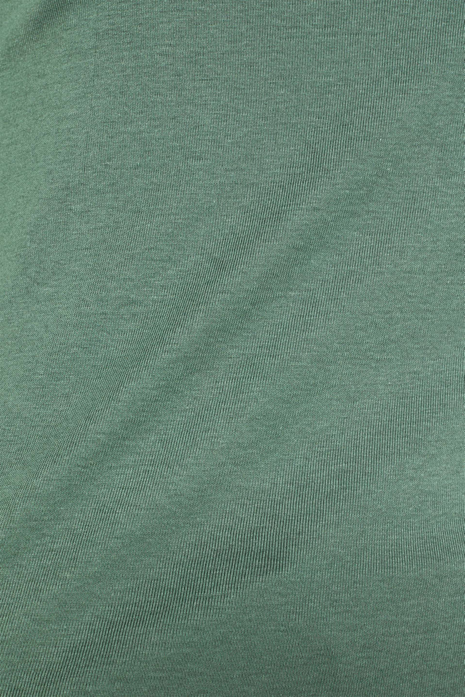 Top with striped details, 100% cotton, KHAKI GREEN 4, detail image number 4