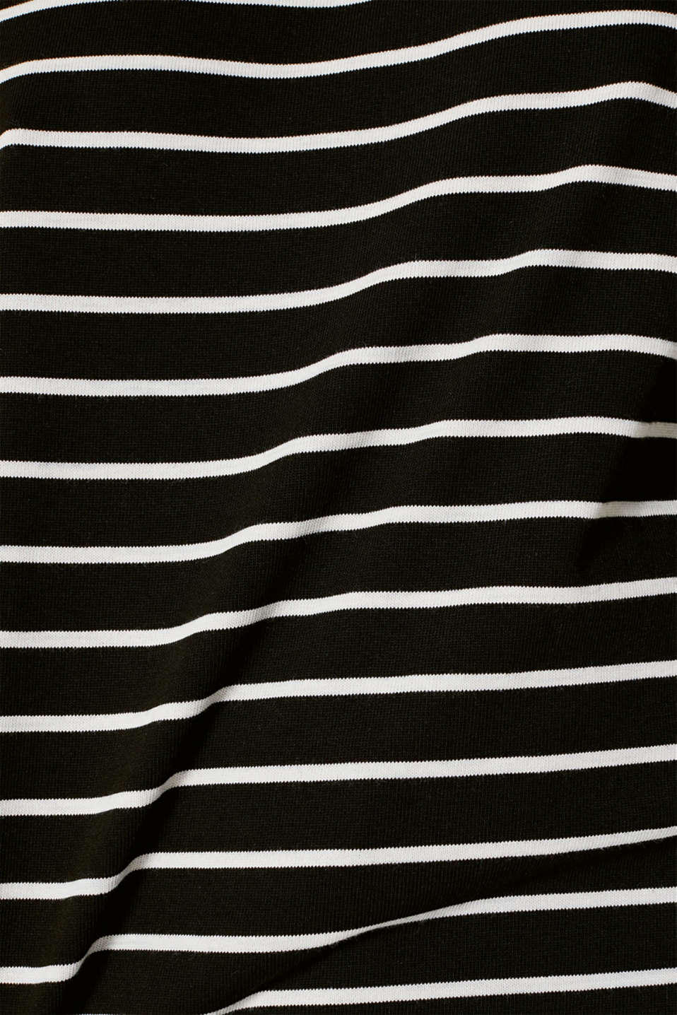 Heavy jersey top with a band collar, BLACK, detail image number 4