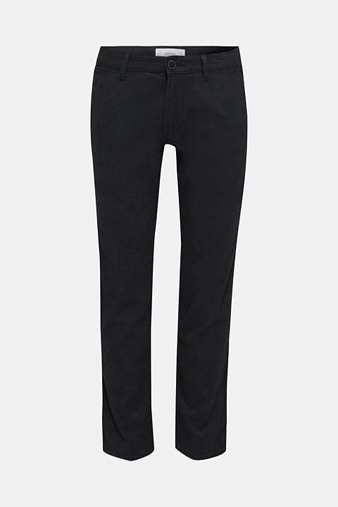Stretch trousers made of blended cotton