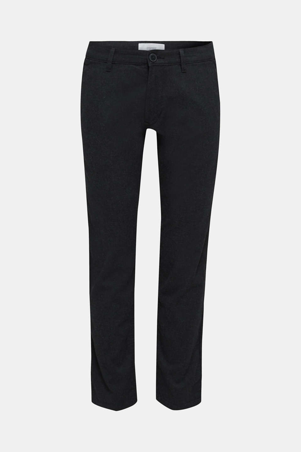 Stretch trousers made of blended cotton, ANTHRACITE, detail image number 6