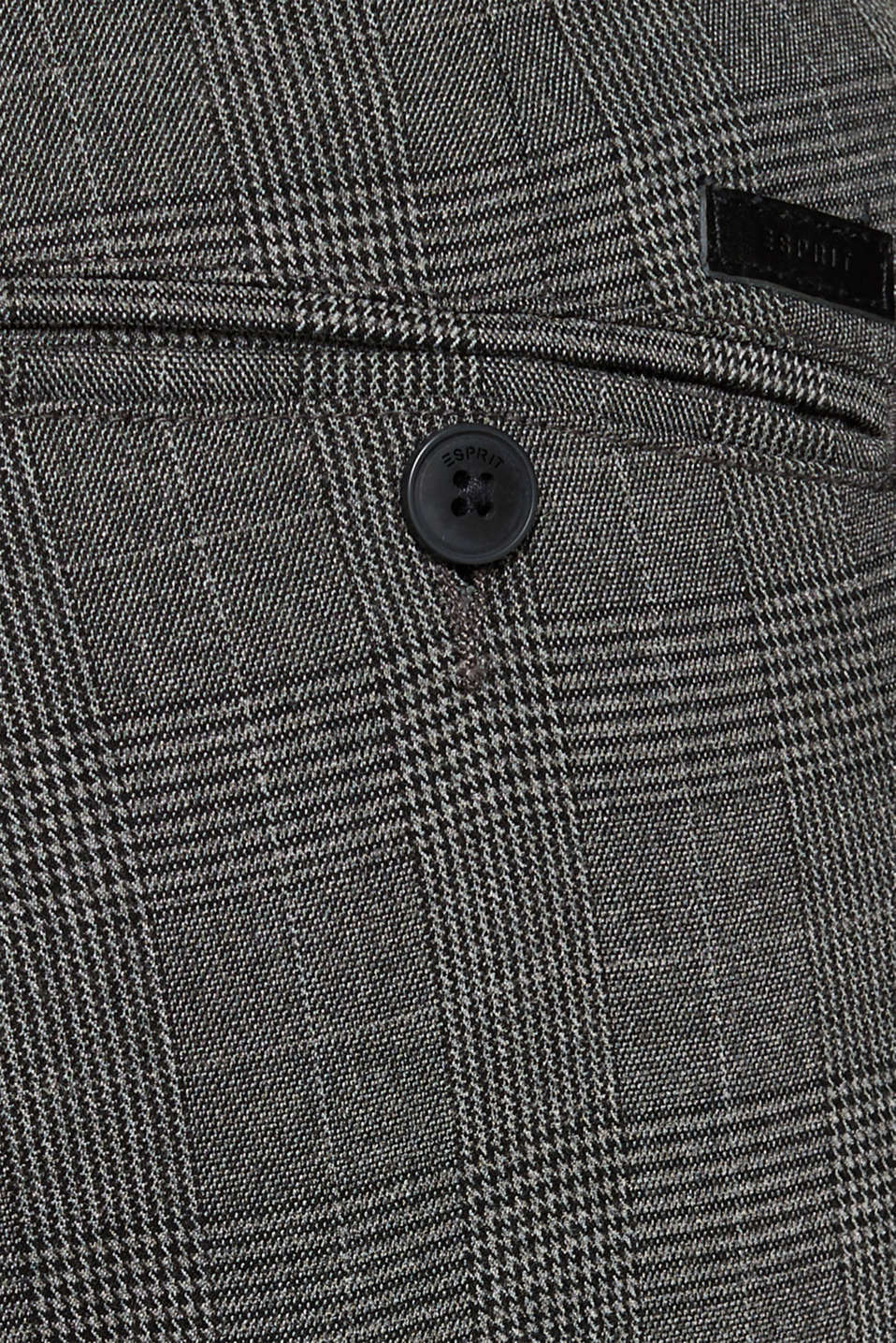Stretch trousers with Prince of Wales checks, DARK GREY, detail image number 2