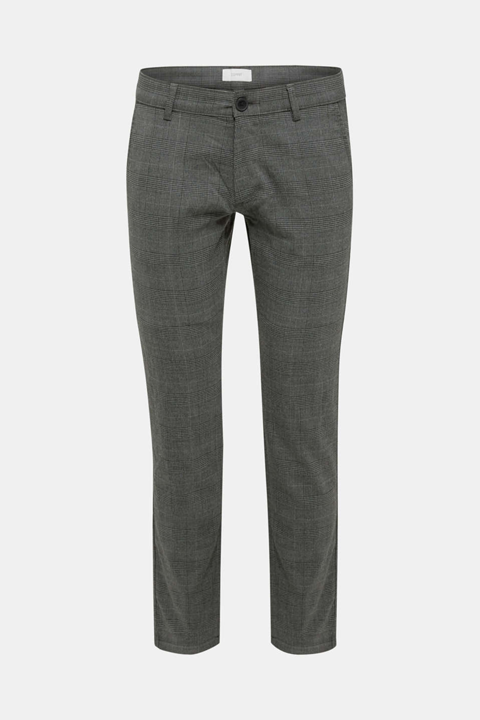 Stretch trousers with Prince of Wales checks, DARK GREY, detail image number 4