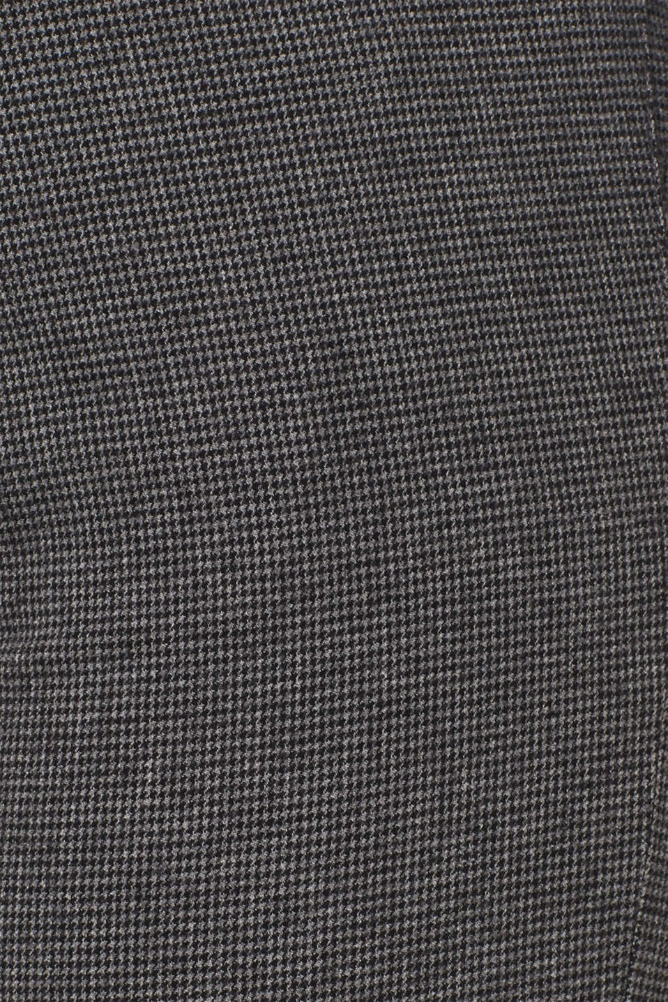 Houndstooth trousers made of stretch cotton, GREY, detail image number 4