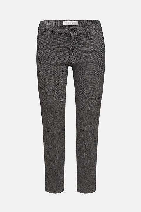Houndstooth trousers made of stretch cotton