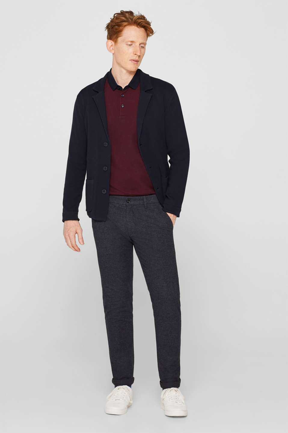 Pants woven Slim fit, NAVY, detail image number 1