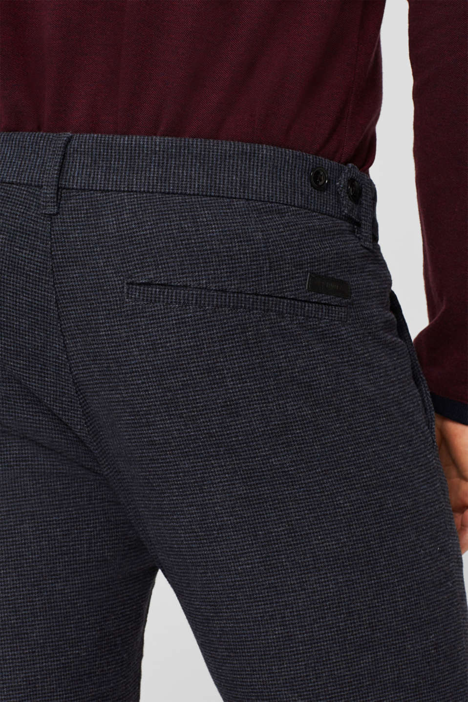 Pants woven Slim fit, NAVY, detail image number 2
