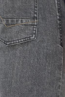 Stretch jeans with washed-out effects, GREY MEDIUM WASH, detail