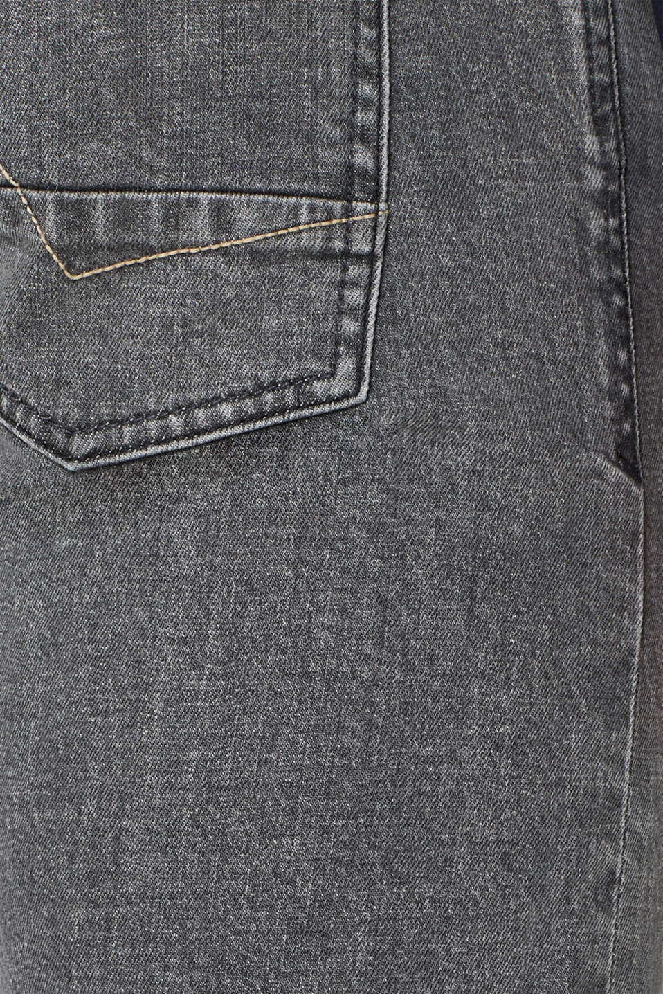 Stretch jeans with washed-out effects, GREY MEDIUM WASH, detail image number 4