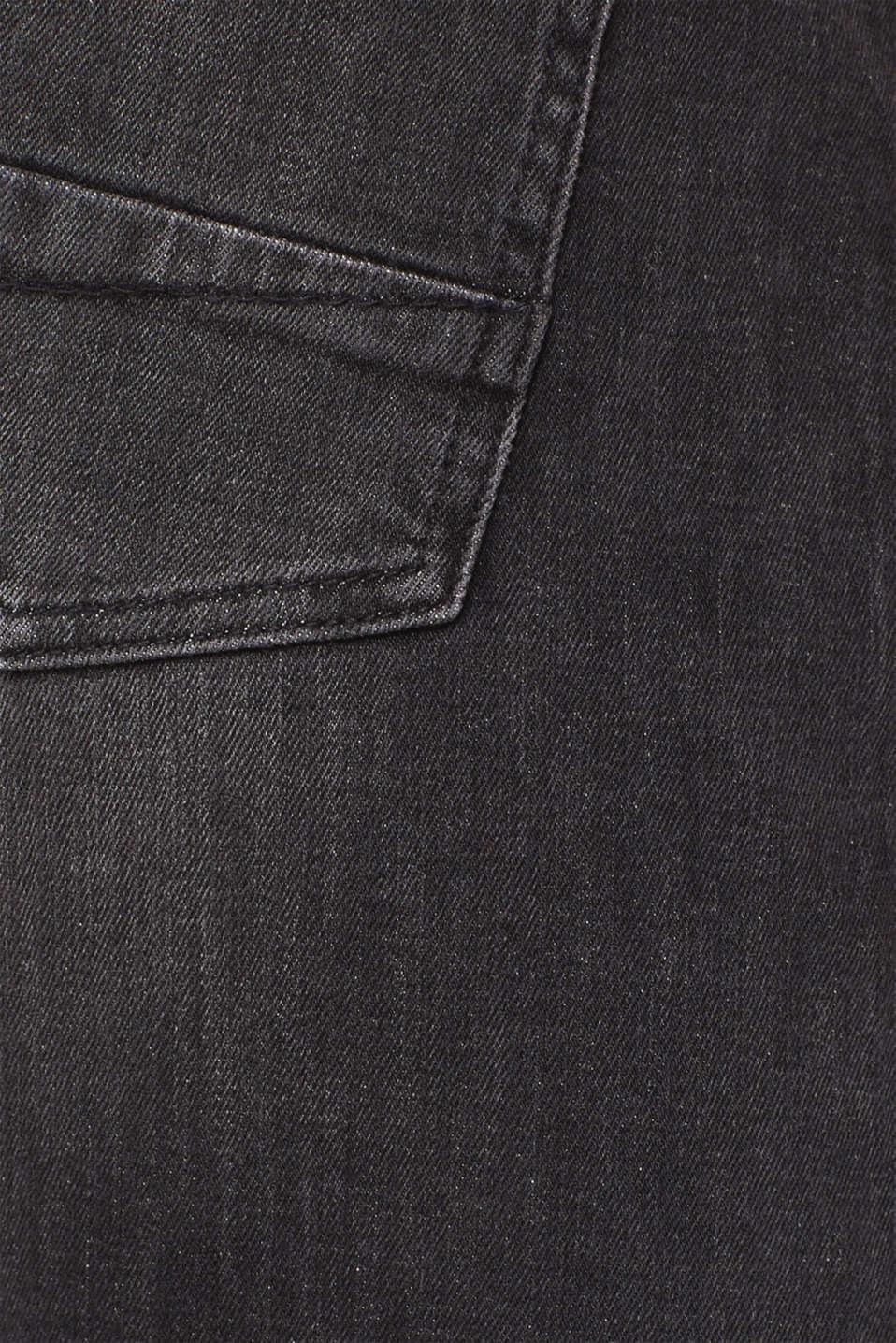 Dynamic denim with super stretch for comfort, BLACK MEDIUM WASH, detail image number 4
