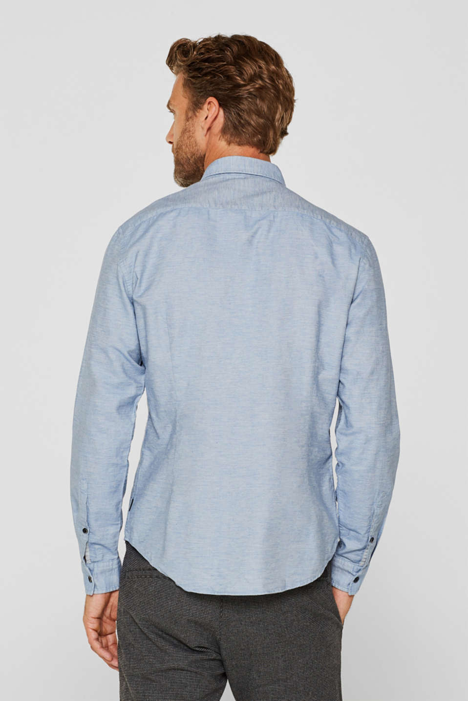 100% cotton shirt, LIGHT BLUE, detail image number 3