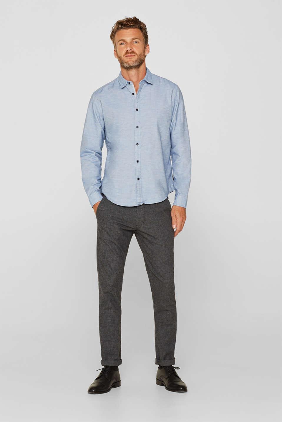 100% cotton shirt, LIGHT BLUE, detail image number 1