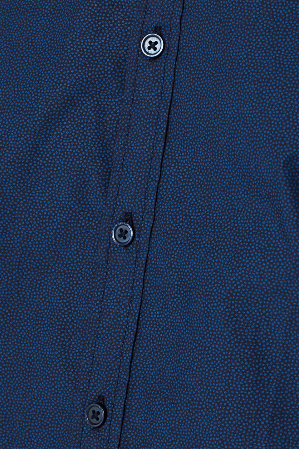 Shirt with micro print, 100% cotton, NAVY, detail image number 4