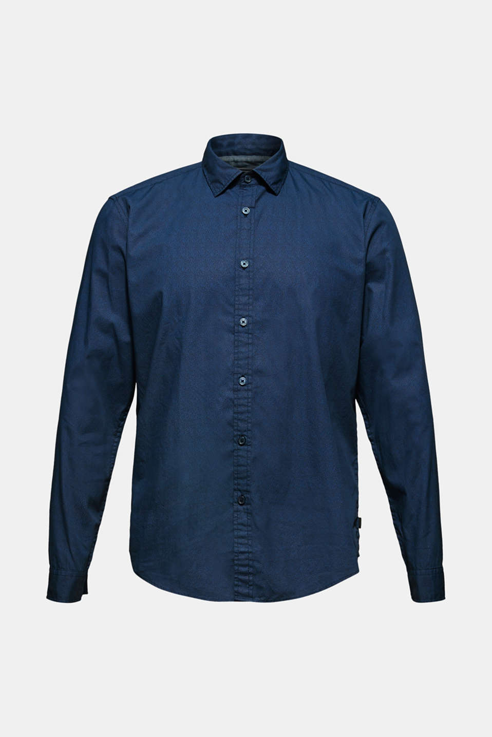 Shirt with micro print, 100% cotton, NAVY, detail image number 6