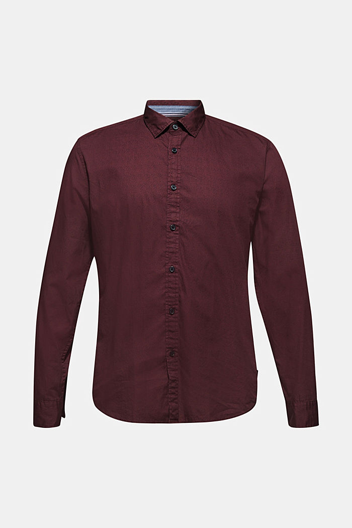 Shirt with micro print, 100% cotton