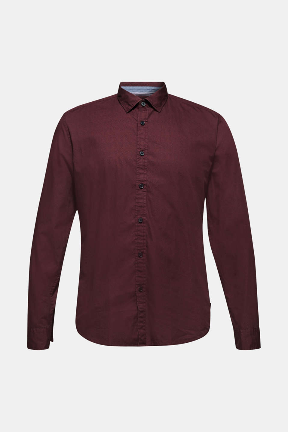 Shirt with micro print, 100% cotton, GARNET RED, detail image number 6