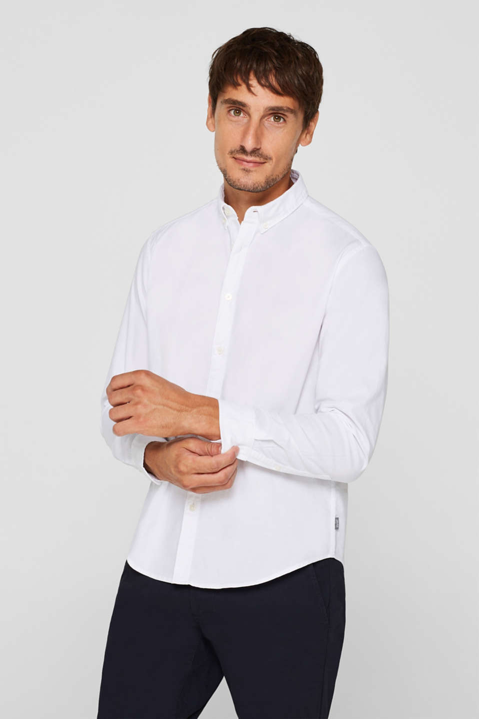 Esprit - Hemd mit Button-Down-Kragen