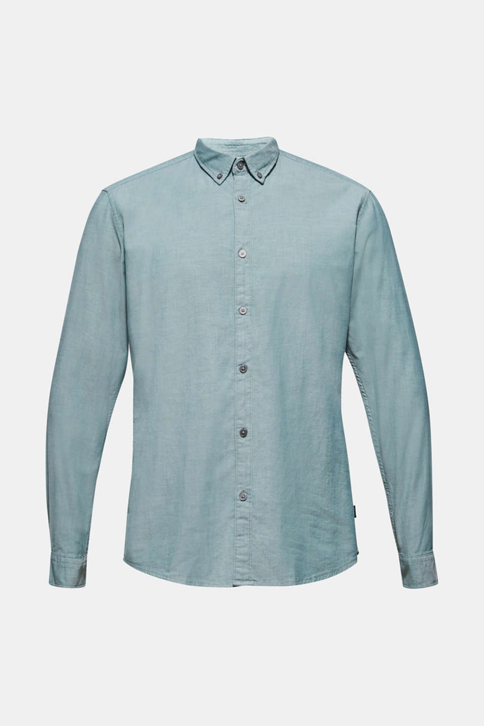 Top with a button-down collar, DARK GREEN, detail image number 6