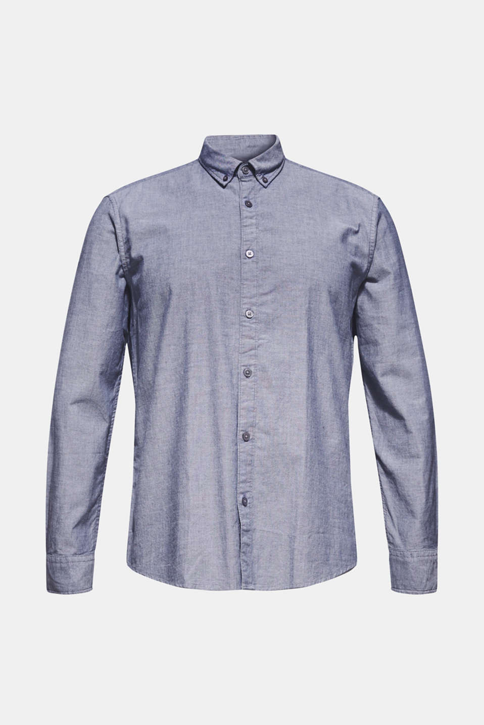 Top with a button-down collar, NAVY, detail image number 5