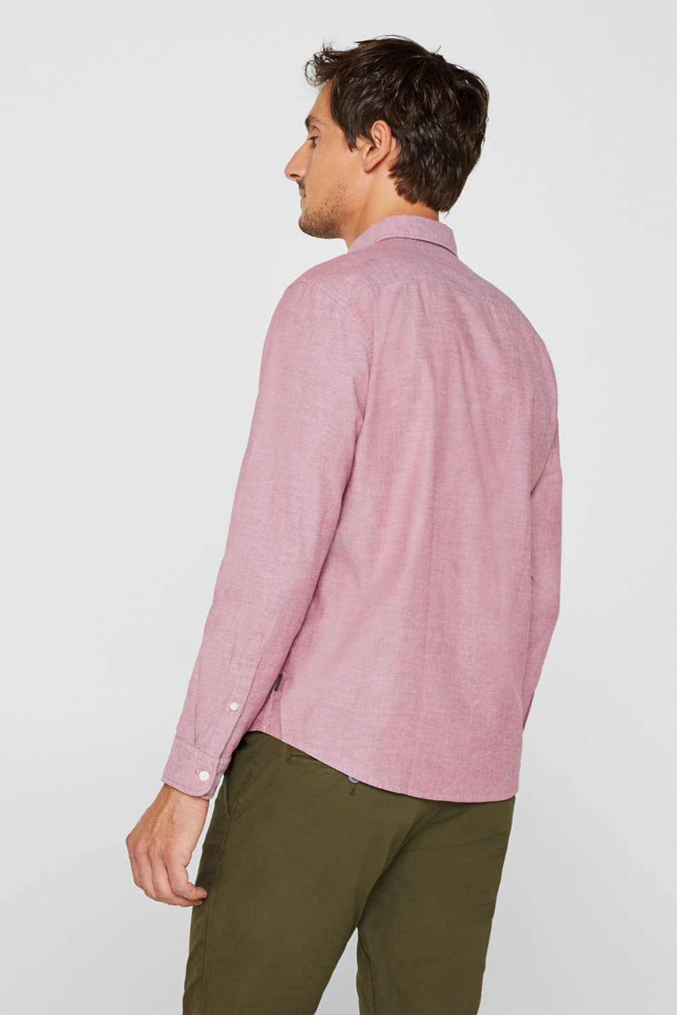 Top with a button-down collar, GARNET RED, detail image number 3