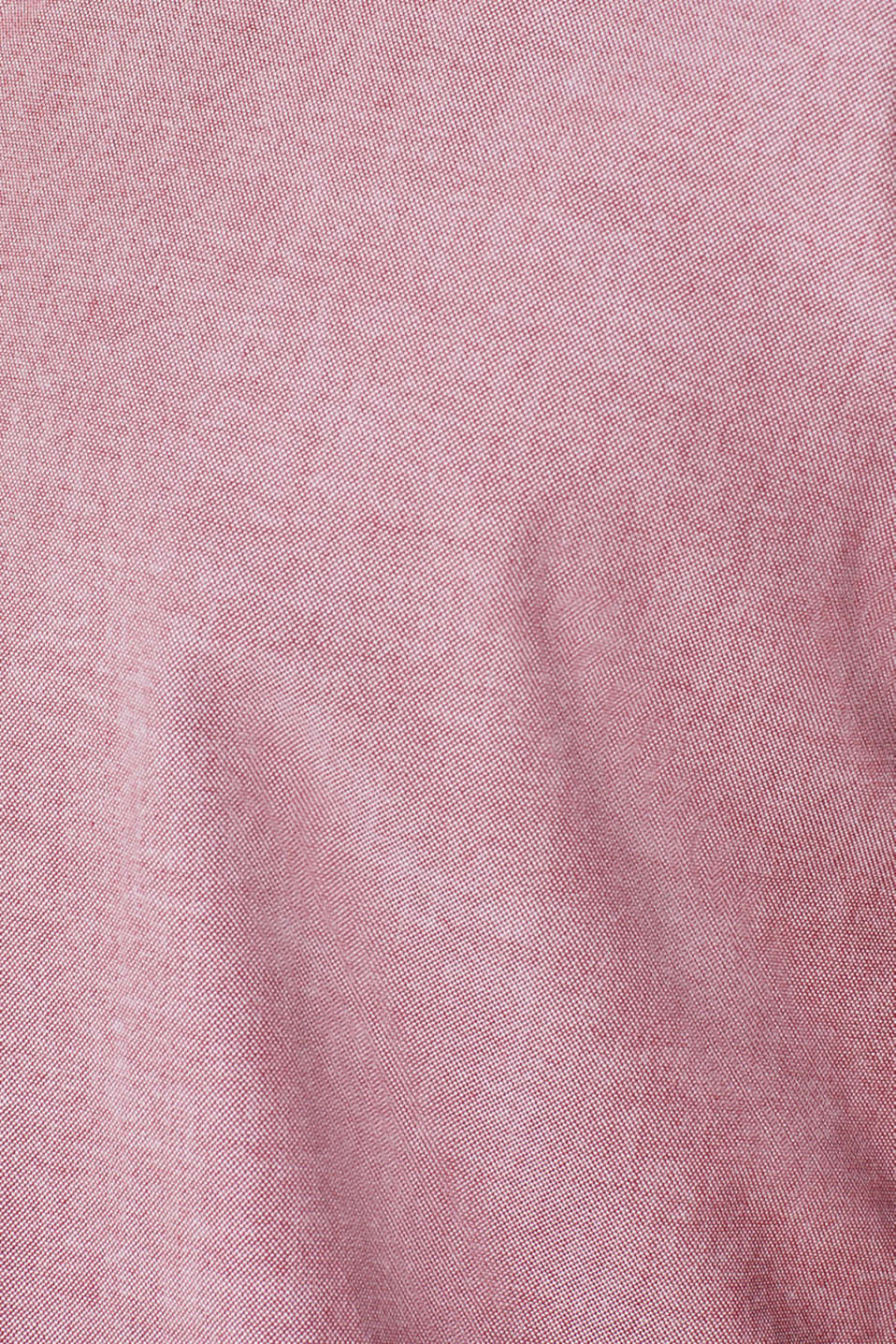 Top with a button-down collar, GARNET RED, detail image number 4