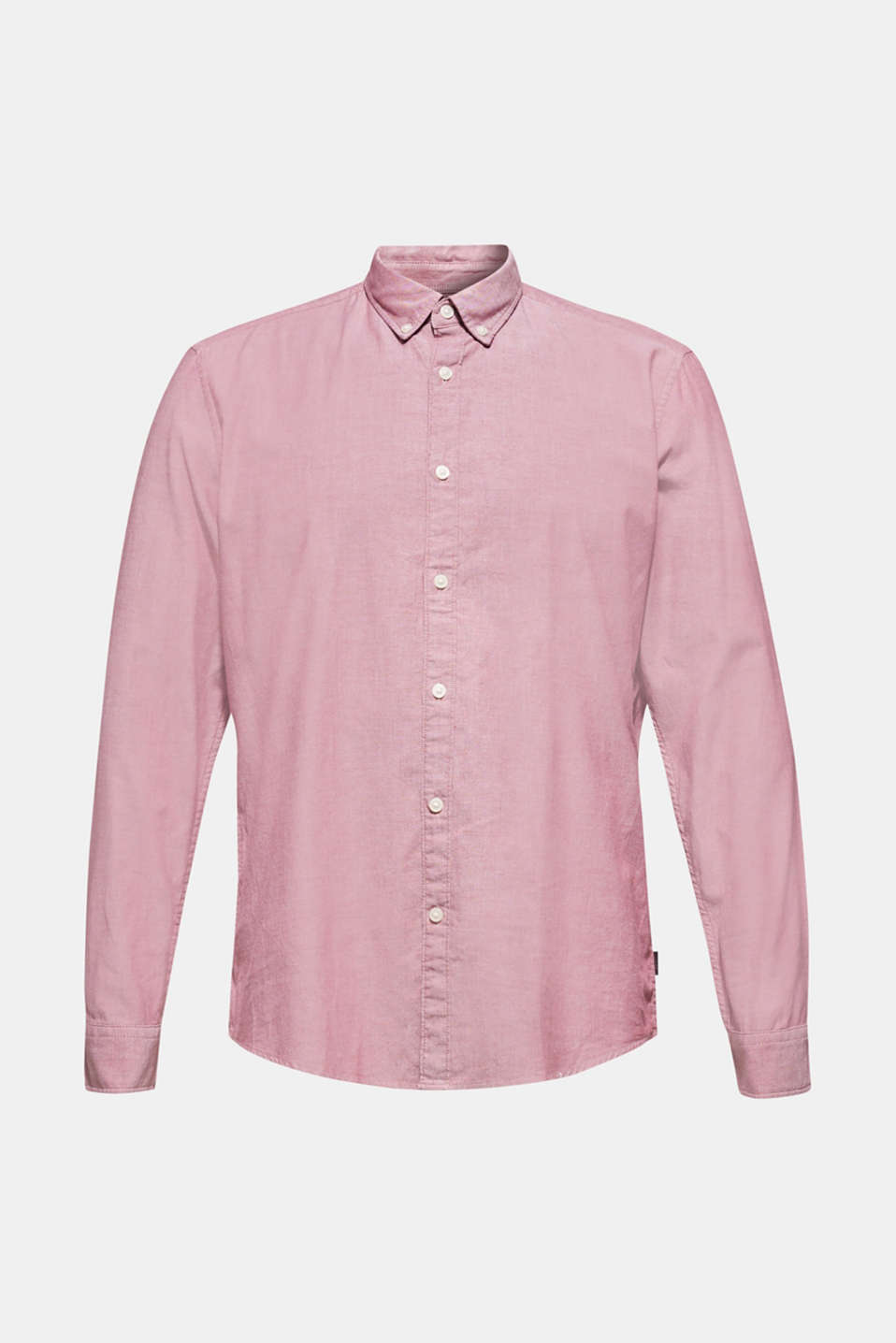 Top with a button-down collar, GARNET RED, detail image number 5