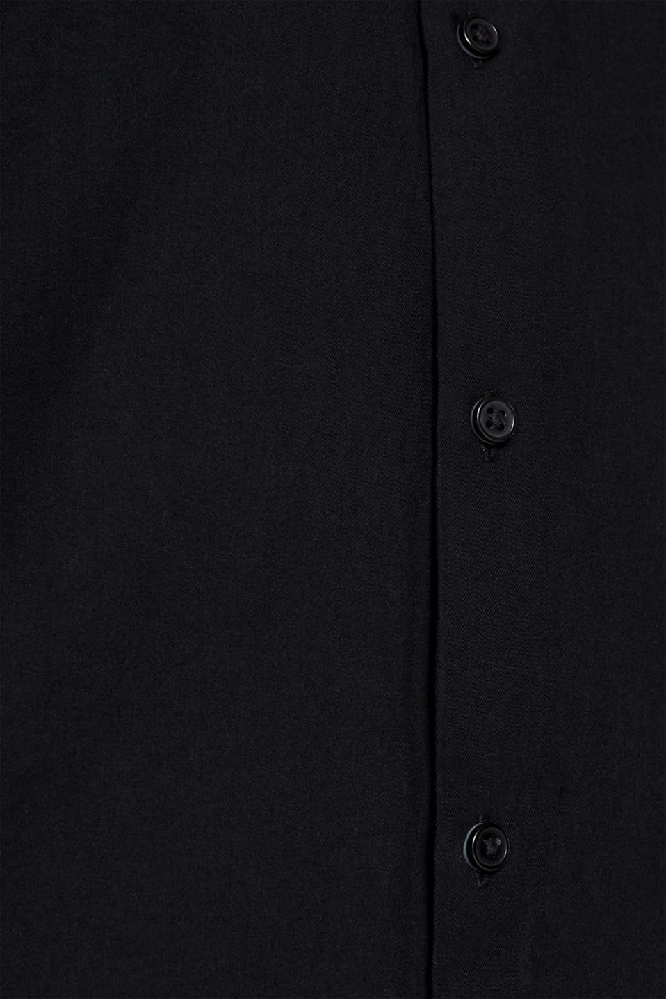 With wool: top with a stand-up collar, BLACK, detail image number 4